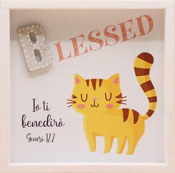 Quadro in legno Blessed - Gattino Genesi 12:2 (#417)