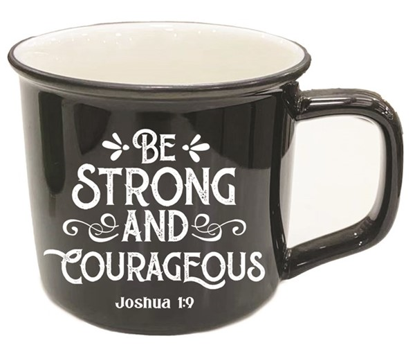 Tazza Be strong and courageous Nera