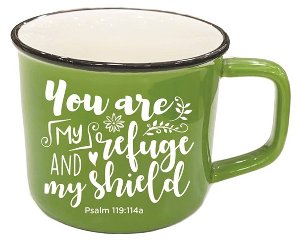 Tazza You are my refuge Verde
