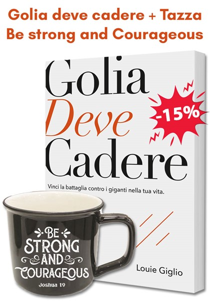 Pacchetto regalo Golia deve cadere + Tazza nera Be strong and courageous (Brossura)