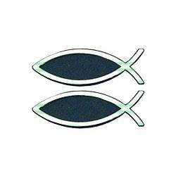 Adesivo Pesce argentato - Set da 2 Auto Emblems