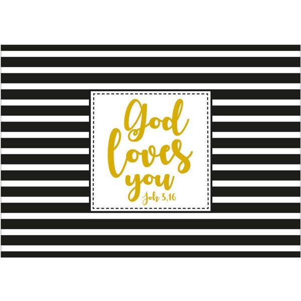 Cartolina God loves you