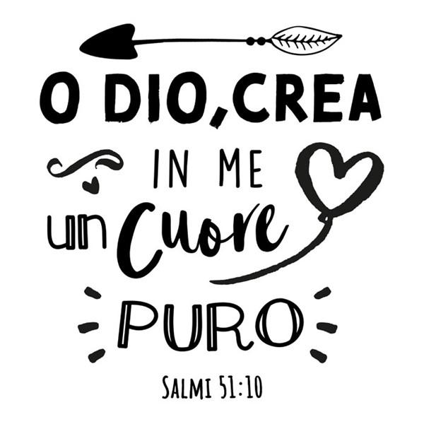 Adesivo Cuore puro - Salmi 51:10 (SB)