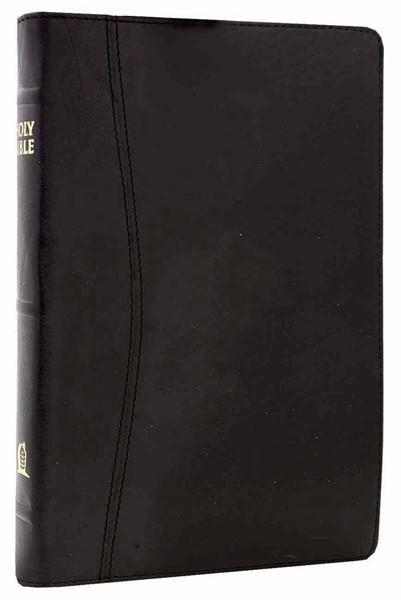 NKJV Holy Bible UltraSlim hand-bound premium black calfskin leather (Pelle)