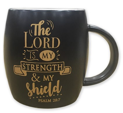 Tazza nera The Lord is my strength