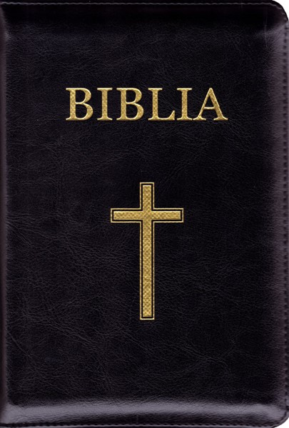 Bibbia in rumeno con cerniera (Similpelle)