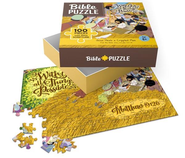 Puzzle Jesus Heals a lame man 100 pezzi (Scatola)