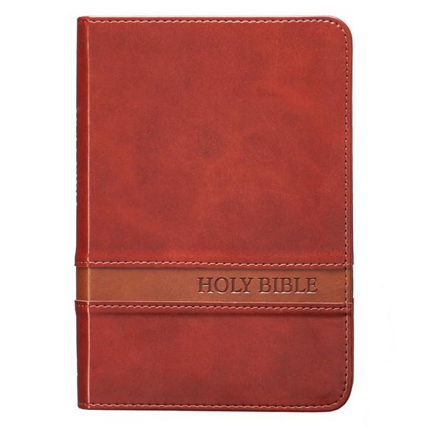 KJV Large Print Compact Bible Brown (Similpelle)