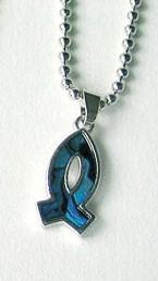 Collanina di madreperla - Pesce Blu