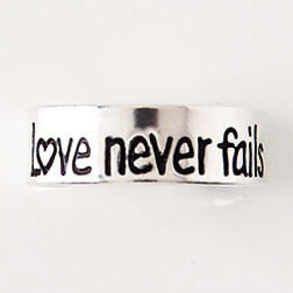 Anello per dito del piede in Argento - Love Never Fail