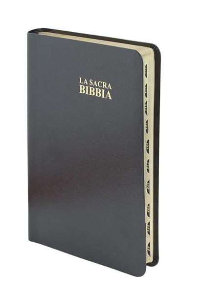 Bibbia Nuova Diodati - A03PNR - Formato medio (Pelle)