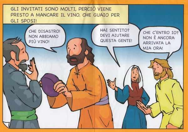 Le nozze di Cana - Storia a poster da colorare