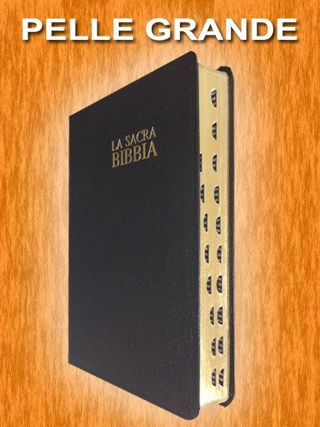 Bibbia Nuova Diodati - B03PNR - Formato grande (Pelle)