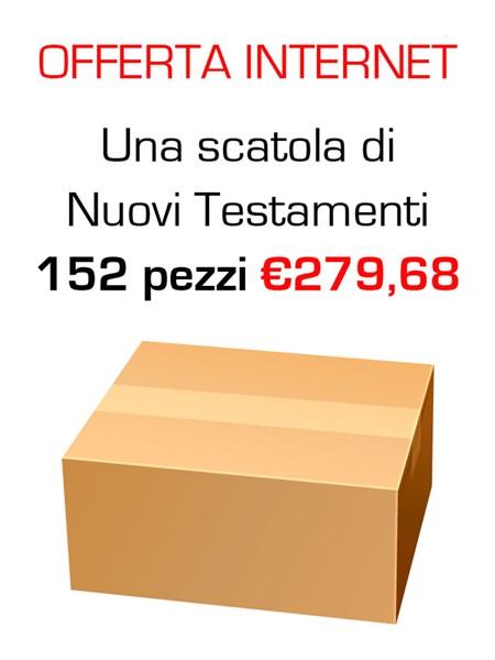 """Offerta - Una scatola da 152 copie de """"Il nuovo Testamento Salmi e Proverbi"""" al 20% di sconto"""