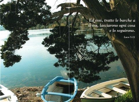 Biglietto con versetto biblico con busta - Soggetto Lago