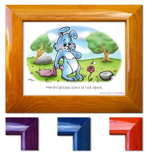 Quadretto con versetto Salmo 139:14 - Disponibile in quattro colori diversi - La cornice è indicativa