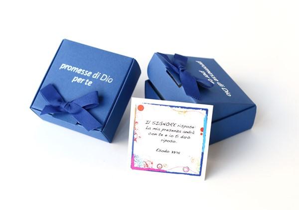 Promesse di Dio per te - Scatolina di Colore Blu (Cartoncino)
