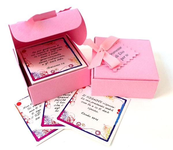 Promesse di Dio per te - Scatolina di Colore Rosa (Cartoncino)