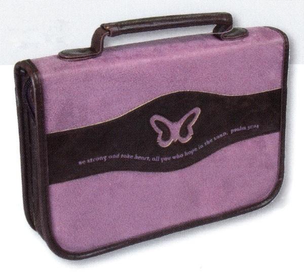 Copribibbia Farfalla Viola Medio (Pelle)