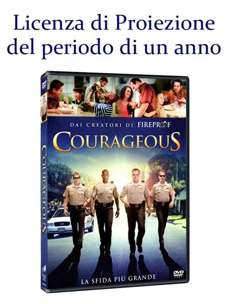 """Licenza di Proiezione del Film """"Courageous"""" della durata di 1 Anno e Proiezioni Illimitate"""