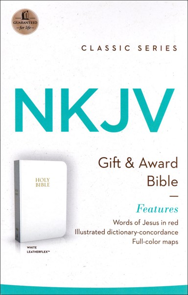 NKJV Holy Bible Gift Edition White (Similpelle)