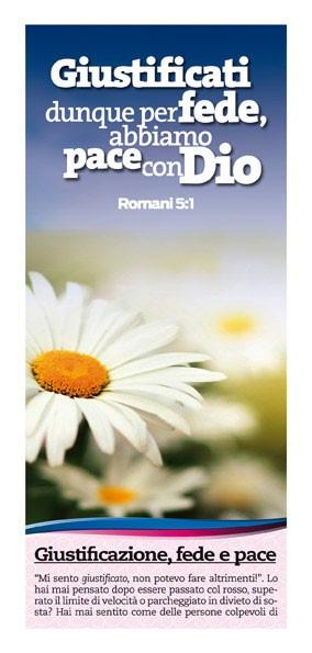 Giustificazione fede e pace - 500 opuscoli (Volantino)