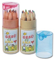 "A1203 - Matite colorate per bambini ""Gesù ci ama"""
