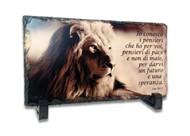 """Quadretto in ardesia """"Pensiero"""" con piedistallo - Geremia 29:11"""