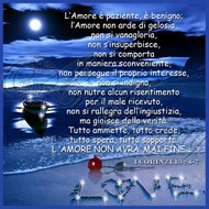 "Quadro ""Love"" 1 Corinzi 13 - Quadrato (QDR014)"