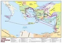 I viaggi di Paolo - Carta geografica (Pieghevole)