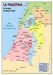 La Palestina ai tempi di Gesù - Carta geografica (Pieghevole)