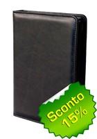 Copribibbia artigianale in pelle colore nero Medium (50421)