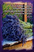 Quadretto in legno lavorato a mano - Isaia 40:8