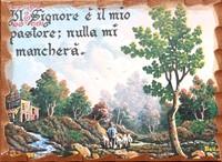 Quadretto in legno lavorato a mano - Pastore