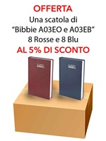 Offerta - Una scatola da 16 copie di Bibbie A03EO e A03EB al 15% di sconto
