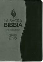 Bibbia da studio Spirito e Vita in Similpelle Bicolore Grigio/Nero