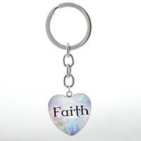 Portachiavi Faith cuore azzurro