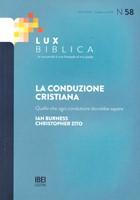 La conduzione cristiana Lux Biblica - n° 58