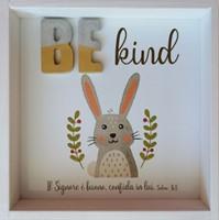Quadro in legno Be kind Salmo 34:8 (#420)