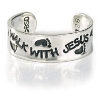 Anello per dito del piede in Argento - Walk With Jesus
