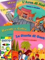 Eroi della Bibbia Leggi e Colora 4 Libri + 12 Pennarelli