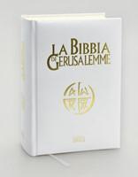 La Bibbia di Gerusalemme in similpelle bianca