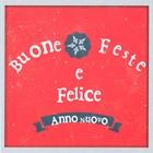 """Biglietto """"Buone Feste"""" Snowflake rosso con busta"""