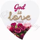 """Quadro """"God is love 1 Giovanni 4:16"""" - Cuore (CR0021)"""