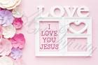 """Quadro """"Love - I love you Jesus"""" - Rettangolare piccolo (RTN125)"""