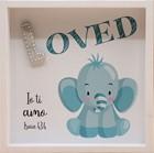 Quadro in legno Loved - Elefante Isaia 43:4 (#414)