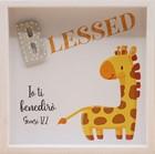 Quadro in legno Blessed - Giraffa Genesi 12:2 (#416)