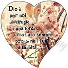 """Quadro """"Salmo 46:1"""" - Cuore (CR0009)"""