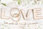 """Quadro """"Love"""" Anelli - Rettangolare piccolo (RTN139)"""