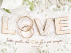 """Quadro """"Love"""" Anelli - Rettangolare grande (RTN140)"""